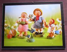 Bild im Glas Rahmen Wendt & Kühn 3 Kinder gratulieren Muttertag Geburtstag 18x24
