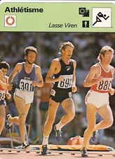 ATHLETISME carte fiche photo LASSE VIREN ( FINLANDE )