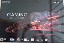 "Acer XG270HU 27"" FREESYNC 1440P 144HZ Widescreen LED GAMING Monitor FRAMELESS"