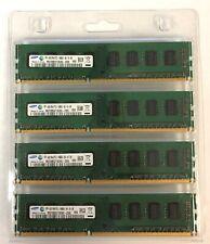 SAMSUNG M378B5273CH0-CH9 16GB (4X4GB) 2Rx8 PC3-10600U 240-pin DDR3 SDRAM MEMORY