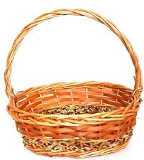 Oval wicker baskets with handle christmas hampers, picnics,storage basket
