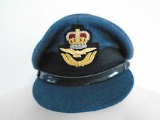 RAF MENS OFFICER CAP WITH BADGE SIZE 56CM GENUINE ISSUE