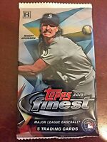 2015 Topps Finest Baseball Factory Sealed Hobby Pack - 5 Cards