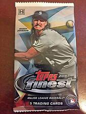 2015 Topps Finest Baseball Factory Sealed Hobby Pack - 5 Cards