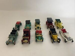 LOT OF 10 VINTAGE RARE LESNEY MODELS OF YESTERYEAR ALL SEATS INTACT