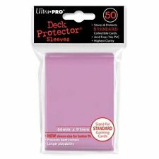 50 Ultra Pro Trading Card Sleeves - Standard Pink Deck Protectors.