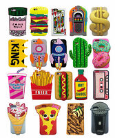 Novelty Food Cartoon Retro 3D Silicone Rubber Case Cover For iPhone 5 6 7 8 PLUS