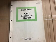 Hurricane Pinball Machine Schematic Manual