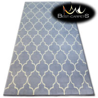 "MODERN DESIGNS & CHEAP BCF RUGS grey TRELLIS ""BASE"" LARGE SIZE Best-Carpets"