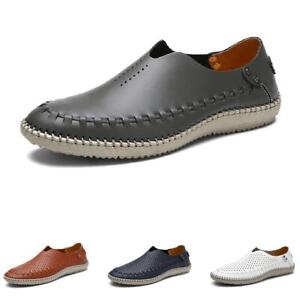 Mens Pumps Hollow out Breathable Loafers Shoes Slip on Driving Moccasins 38-46