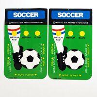 Lot of 2 Vintage 1979 Mattel Soccer Intellivision Controller Overlays