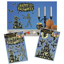 Haunted Halloween Glow In The Dark Mummy House Wall Stickers Decorations