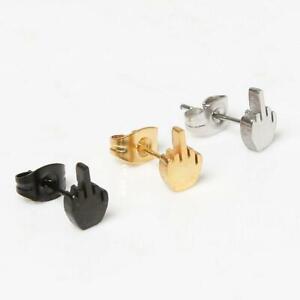rude earrings Earrings middle finger hand rudeness