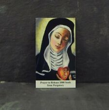 Catholic prayer card St. Gertrude Purgatory prayer