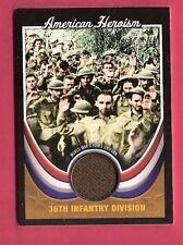 WORLD WAR II 36TH INFANTRY DIV WORN POW'S UNIFORM RELIC CARD 2009 TOPPS HERITAGE