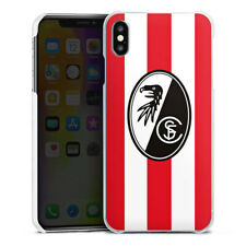 Apple iPhone Xs Max Handyhülle Case Hülle - SC Freiburg - Rot Gestreift