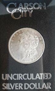 1884 CC Morgan Silver Dollar BU Uncirculated w/ Box & COA