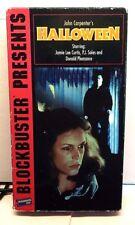 Halloween VHS 1978 by John Carpenter's, Jamie L Curtis, P.J. Soles, D. Pleasance