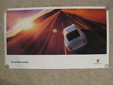 "2004 Porsche 911 Carrera Coupe ""No Autobahn Needed"" Showroom Advertising Poster"