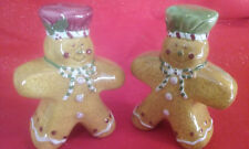 "Laurie Gates Gingerbread Men ""HOLIDAY TREATS""  Salt and Pepper Shaker Set"