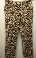 Chicos So Slimming Sz 00 Womens 2 Slim Ankle Jeans Pants Leopard Animal Print