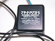 Trantec 15V 300mA FW 6299 UK AC Adapter + Neutrik inline