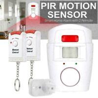 Drahtloser PIR Bewegungsmelder Alarm mit 2 Fernbedienungen für Caravan R2H8 M3S3