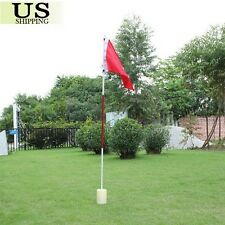 Backyard Plastic Practice Golf Hole Pole Cup Flag Stick Putting Green Flagstick