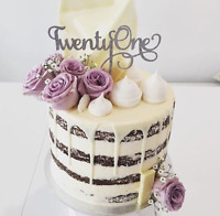 Twenty One Cake Topper - Assorted Colours - 21st Cake Topper - Twenty First Sign