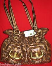 NEW-KATHY VAN ZEELAND LEOPARD CHITA BROWN DOUBLE TROUBLE BELT SHOPPER HAND BAG
