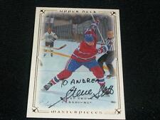 Canadiens Steve Shutt Auto Signed 2008/09 UD Masterpieces Card #63  RARE  K