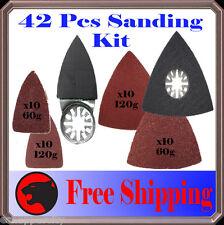 42 Pc Sanding Kit Oscillating Multi Tool Sand Pad For Fein Multimaster Dremel