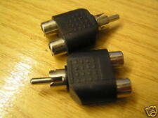 Phono plug to 2 x phono socket splitters 2 pieces OM0833