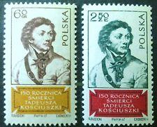 POLAND STAMPS MNH 2Fi1659-60 Sc1540-41 Mi1806-07 - Kosciuszko, 1967,clean
