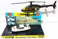 Corgi 007 BOND 926 STROMBERG HELICOPTER & Juniors LOTUS ESPRIT on Custom Display