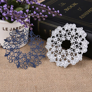 Hollow Lace Flower Cutting Dies Carbon Steel Stencil  Embossing Etch Paper Craft