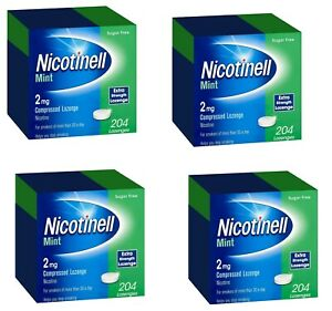 Nicotinell 2mg mint lozenges extra strength 204 pieces 4xPACK