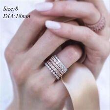 Wedding Jewelry Women Rose Gold Plated Crystal Rhinestone 8