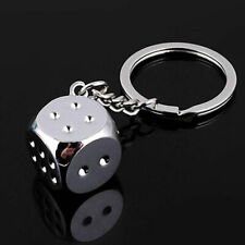 Funny Dice Keychain Key Chain Ring Key Fob Gambling Props Keyring Key Holder