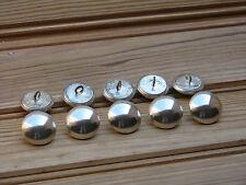 Lot 10 boutons bombés uni métal gris brillant/mat couleur argent 25 mm