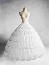 Six Hoops Big Petticoat Princess Bridal Dress Accessories Crinoline Underskirt