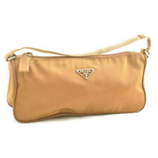 PRADA Nylon Pouch Brown Auth sa2442