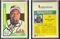 Barry Jones Signed 1990 Richmond Braves CMC #12 Card Richmond Braves Autograph