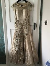Indian Asian Wedding Diamanté Dress Long Gown Party Wear