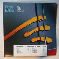 "RUSS BALLARD– AT THE THIRD STROKE- PROMOTIONAL 12"" 33 RPM VINYL LP – EPIC 35035"