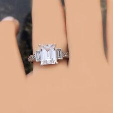 18k Gold Emerald Shape 3.20 Carat GIA Certified Diamond Engagement Ring