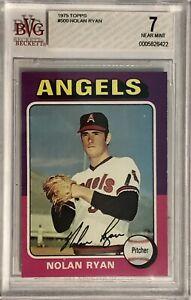 1975 Topps Nolan Ryan #500 BVG 7 NM Beckett Graded Baseball Card