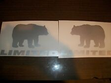 Jeep Wrangler Black Bear Decals Wrangler Left & Right Silver Limited Edition
