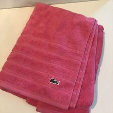 Lacoste Bath Towel Cotton Supima Pink New Croc