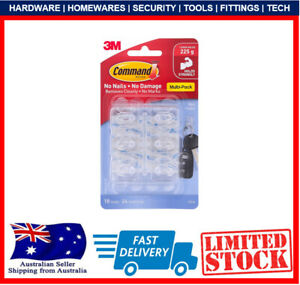3M Command Mini Clear Adhesive Hooks Value Pack - 18 Pack